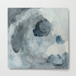 Cloud day: a dark and modern, abstract painting Metal Print