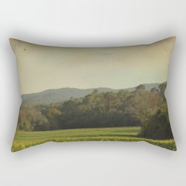 Once Upon a Time a Field of Flowers Rectangular Pillow