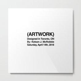 (ARTWORK) White Metal Print