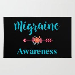 Migraine Headache Pain Awareness Rug