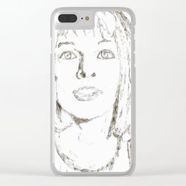 Leeloo Fifth Element sketch- Milla Jovovich Clear iPhone Case