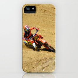 Turning Point Motocross Champion Race iPhone Case
