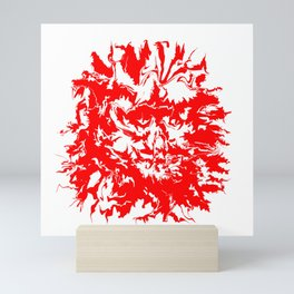 face11 red Mini Art Print