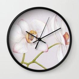 Orchid by Lars Furtwaengler | Colored Pencil / Pastel Pencil | May 2013 Wall Clock