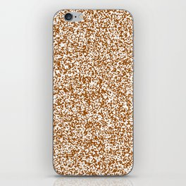 Tiny Spots - White and Brown iPhone Skin
