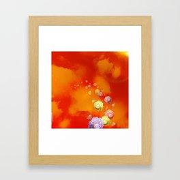 Sunset Roses Framed Art Print