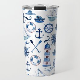 Nautical Watercolor Travel Mug