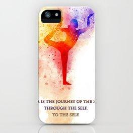Yoga Art iPhone Case