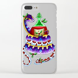 Snake Piece #48 - Christmas Potion Clear iPhone Case