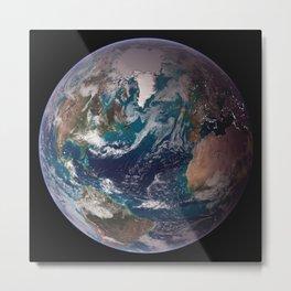 Blue Marble Western Hemisphere Metal Print