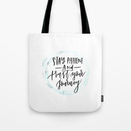 trust your journey- green wreath Tote Bag