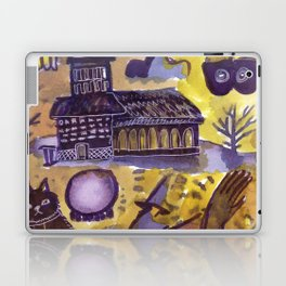 haunted house horror aesthetic pattern Laptop & iPad Skin