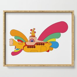 The Yellow Submarine Cartoon Serving Tray