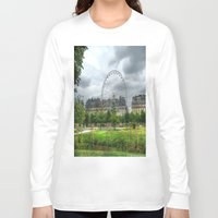 ferris wheel Long Sleeve T-shirts featuring Ferris Wheel by Christine Workman