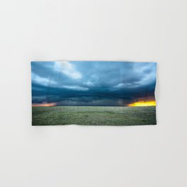 Regeneration - Storm Strengthens With Amazing Color in Texas Hand & Bath Towel