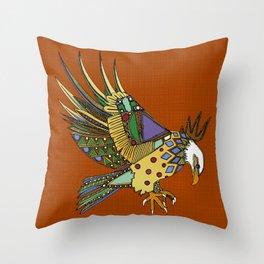 jewel eagle rust Throw Pillow