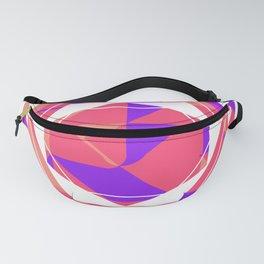 Pink geometric funny pop art Fanny Pack