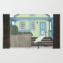 Great Egret and House Rug