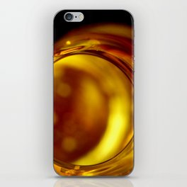 Golden bottle iPhone Skin