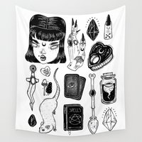 loll3 Wall Tapestries featuring teen Witch by lOll3