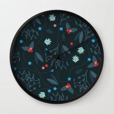 xmas pattern Wall Clock