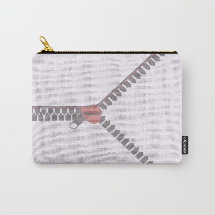 Unzipping or pass Carry-All Pouch