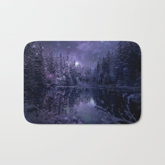 A Cold Winter's Night Bath Mat