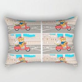La Dolce Vita Romana - Nano and Junior explore Rome Rectangular Pillow