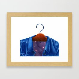 Universe in a Jacket jeans that hung on the hanger Framed Art Print