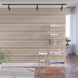 Cavern Clay SW 7701 Horizontal Line Pattern 6 and accent colors 2 Wall Mural