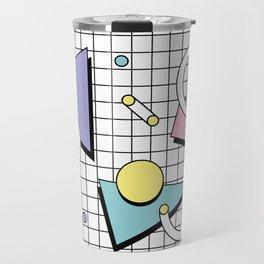 Memphis Pattern 26 - 80s - 90s Retro / Geometric Travel Mug