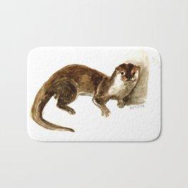 Totem otter: Amblonyx cinerea Bath Mat