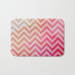 Warm Watercolour Chevron  Bath Mat