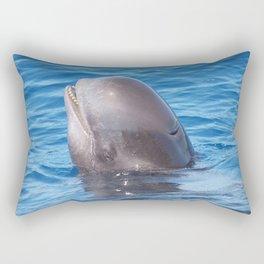 Cute wild pilot whale baby Rectangular Pillow