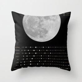 2017 Calendar - Lunar Throw Pillow