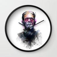 frank Wall Clocks featuring Frank by Saje Gary