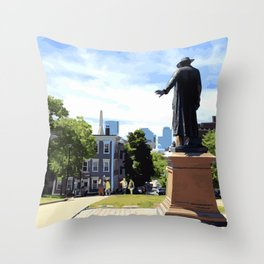 Battle of Bunker Hill, Boston, MA Throw Pillow