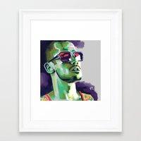 tyler durden Framed Art Prints featuring Tyler Durden by Joel Amat Güell