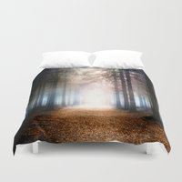 forest Duvet Covers featuring Enchanted Forest by Viviana Gonzalez