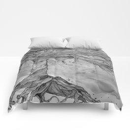 Tree of Life (Grey Scale) Comforters