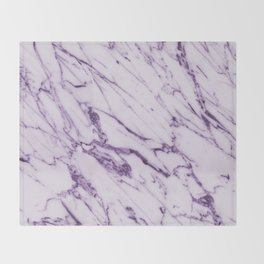 Purple marble Throw Blanket