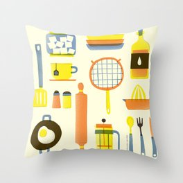 Kitchen stuffs Throw Pillow