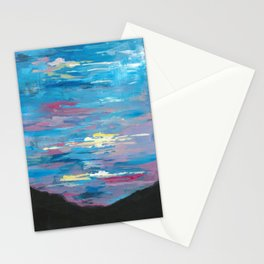 Sunset, Multi-Color Sky Painting Stationery Cards