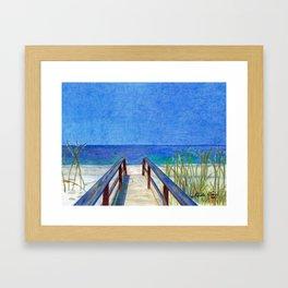 Fun at the Beach Framed Art Print