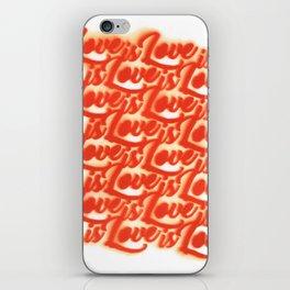Love is Love iPhone Skin