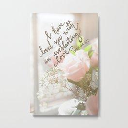 Roses & An Everlasting Love Metal Print