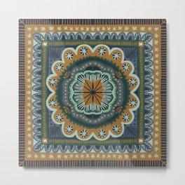 Winter Symmetric Pattern Metal Print