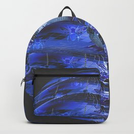 Disco Bee Hive Silver and Blue and Black Backpack