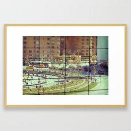 Toy Columbus Circle NYC Framed Art Print