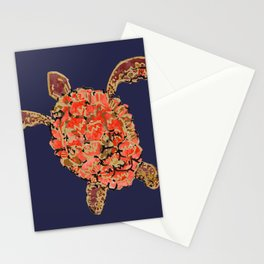 Sea Turtle Purple Stationery Cards